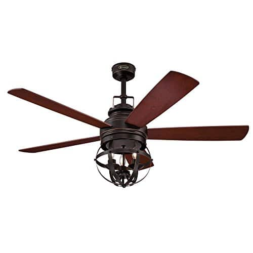 Westinghouse Lighting 7217100 Stella Mira 52 Inch Vintage Ceiling Fan Reversible Blades Oil Rubbed Bronze Finish 0 0