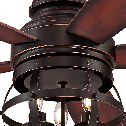 Westinghouse Lighting 7217100 Stella Mira 52 Inch Vintage Ceiling Fan Reversible Blades Oil Rubbed Bronze Finish 0 4