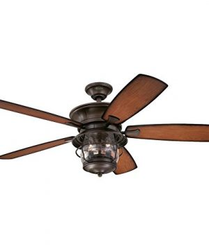 Westinghouse Lighting 7800000 Brentford 52 Inch Aged Walnut IndoorOutdoor Ceiling Fan Light Kit With Clear Seeded Glass 1 Finish 0 300x360