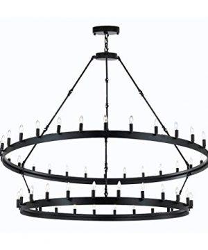 Wrought Iron Vintage Barn Metal Castile Chandelier Chandeliers Industrial Loft Rustic Lighting 0 300x360