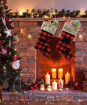XIANGTAI Personalized Christmas Stockings Home Decoration Gifts For Holiday Party Decorations Gift Set Of 2 0 0 300x360