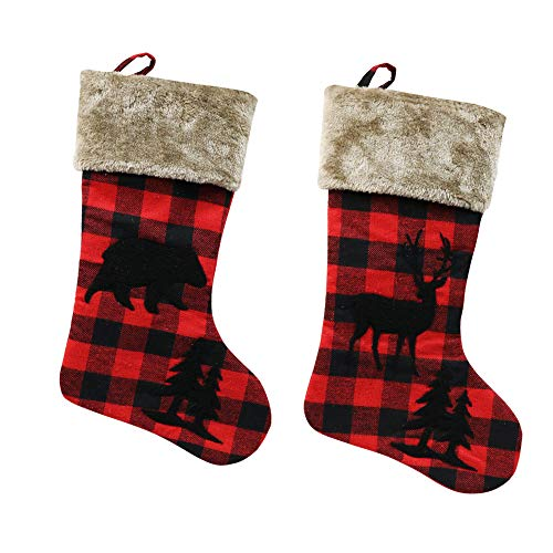 XIANGTAI Personalized Christmas Stockings Home Decoration Gifts For Holiday Party Decorations Gift Set Of 2 0