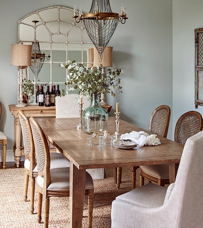 Ballantyne Farmhouse Dining Room by Ally Whalen Design