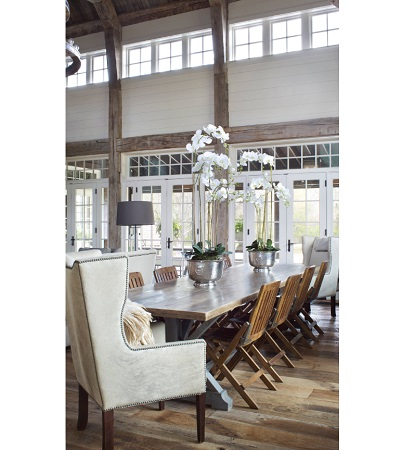 Farm Dining Room Austin by Norris Architecture