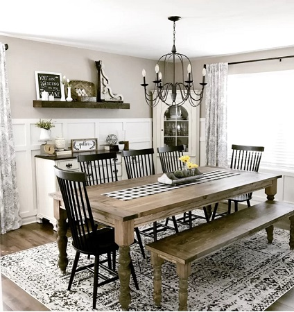 Farmhouse Dining Room Design 3 by Wayfair in Our Customers' Homes