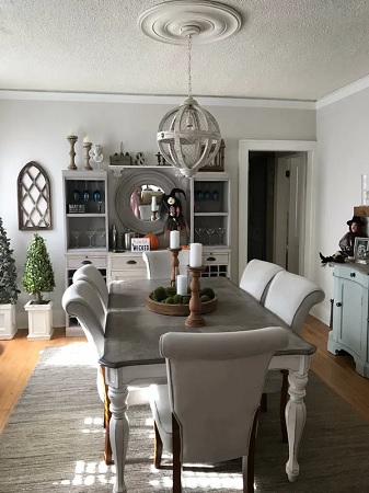 Farmhouse Dining Room Design by Wayfair in Our Customers' Homes