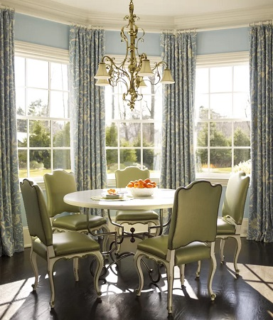 Farmhouse Dining Room Design by by Mendelson Group in Mendelson Group Projects