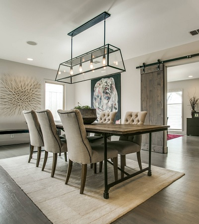 Modern Farmhouse Dining Room by Demesne