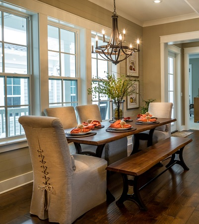 Parkview Place - Plan B Farmhouse Dining Room Miami by Randy Wise Homes Inc