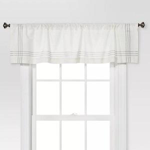 Window Valance - Cream Gray Plaid Border - Threshold