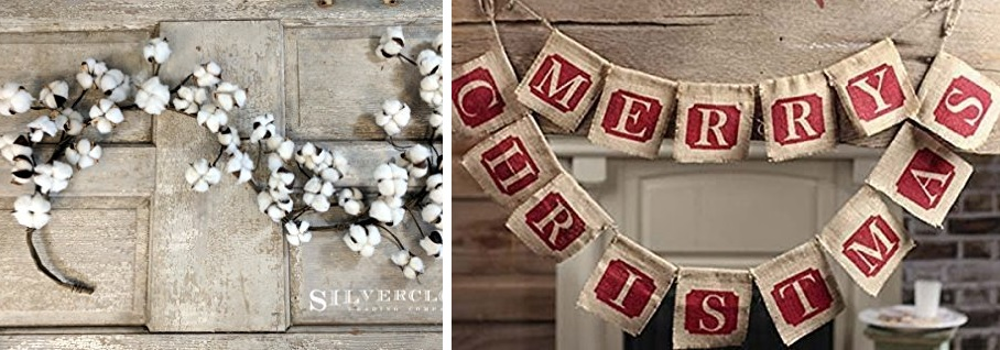 farmhouse christmas garlands