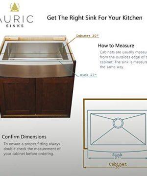 Auric Sinks 27 Retrofit Short Apron Farmhouse Curved Front Single Bowl Sink Stainless Steel 6SCAR 16 27 Retro SGL 0 4 300x360