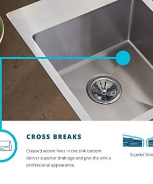 Elkay Crosstown ECTRUFA32179DBG Equal Double Bowl Farmhouse Stainless Steel Sink Kit With Aqua Divide 0 2 300x360