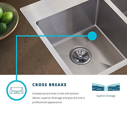 Elkay Crosstown ECTRUFA32179DBG Equal Double Bowl Farmhouse Stainless Steel Sink Kit With Aqua Divide 0 2
