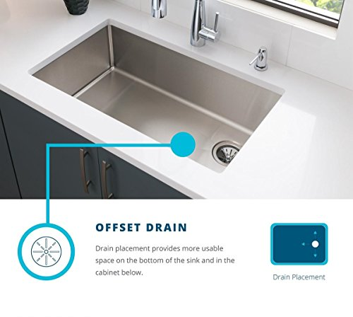 Elkay Crosstown ECTRUFA32179DBG Equal Double Bowl Farmhouse Stainless Steel Sink Kit With Aqua Divide 0 4