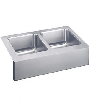 Elkay ELUHF3320 Lustertone Classic Equal Double Bowl Farmhouse Stainless Steel Sink 0 300x360