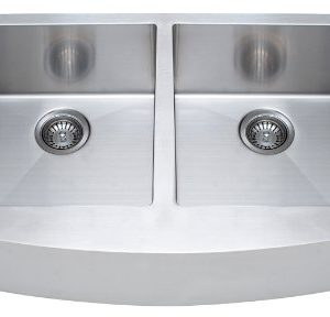 Franke Kinetic 33 Apron Front Farm House Double Bowl Kitchen Sink Stainless Steel 0 300x288