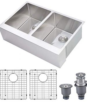 Primart 33 X 21 Inch Farmhouse Apron Front Kitchen Sinks 5050 Double Bowls 16 Gauge Stainless Steel 0 300x360