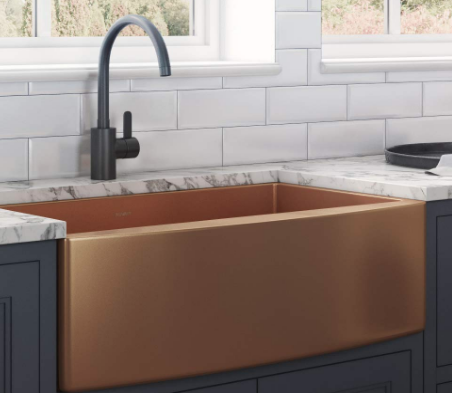 Ruvati Copper Tone 36-inch Apron-Front Farmhouse Kitchen Sink