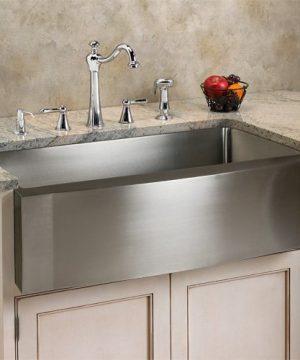 Signature Hardware 285651 Ackerman 33 Single Basin Stainless Steel Farmhouse Sink With Wave Apron 0 300x360