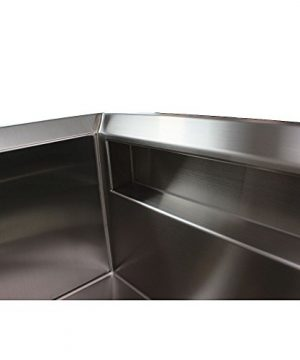 Transolid PUSSF362211 Studio Apron Front Kitchen Sink 355 In L X 22 In W X 11 In H Stainless Steel 0 2 300x360