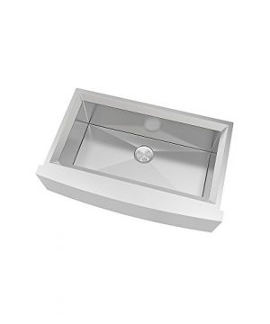 Transolid PUSSF362211 Studio Apron Front Kitchen Sink 355 In L X 22 In W X 11 In H Stainless Steel 0 300x360