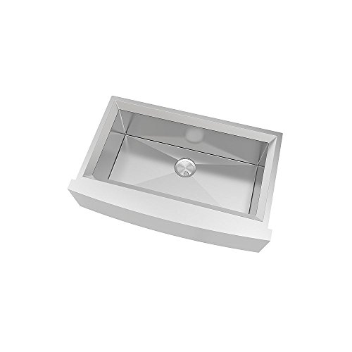 Transolid PUSSF362211 Studio Apron Front Kitchen Sink 355 In L X 22 In W X 11 In H Stainless Steel 0