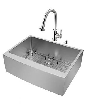 VIGO-30-inch-Farmhouse-Apron-Single-Bowl-16-Gauge-Stainless-Steel-Kitchen-Sink-with-Astor-Stainless-Steel-Faucet-Grid-Strainer-and-Soap-Dispenser-0-0