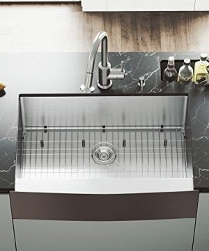 VIGO-33-inch-Farmhouse-Apron-Single-Bowl-16-Gauge-Stainless-Steel-Kitchen-Sink-with-Astor-Stainless-Steel-Faucet-Grid-Strainer-and-Soap-Dispenser-0