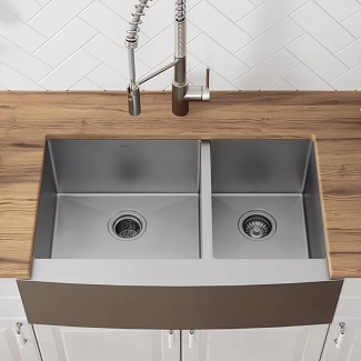 stainless steel farmhouse sinks