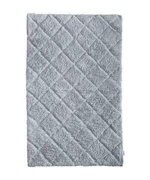 100 Cotton Bath Rug 2 Piece Set 21x3217x24 Cotton Impression Bath Mat Rug Grey 0 1 300x360