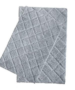 100 Cotton Bath Rug 2 Piece Set 21x3217x24 Cotton Impression Bath Mat Rug Grey 0 300x360