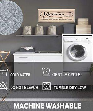 100 Cotton Bath Rug 2 Piece Set 21x3217x24 Cotton Impression Bath Mat Rug Grey 0 4 300x360