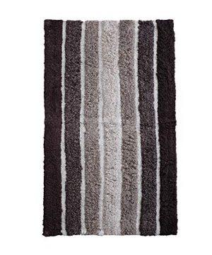2 Piece Cotton Alpine Stripe Bath Rug Set 100 Cotton Bath Mat Rug 21x3217x24 Soft Absorbent Machine Washable Brown Beige 0 3 300x360