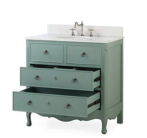 34 Cottage Look Daleville Bathroom Sink Vanity Model HF081Y Vintage Mint Blue 0 5