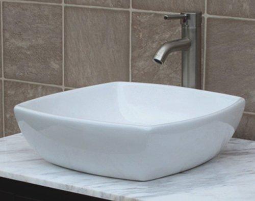 36 Bathroom Solid Wood Vanity Cabinet Black Granite Top Vessel Sink B3621WL BK 0 3