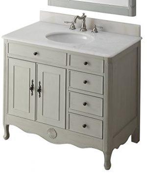 38 Benton Collection Distressed Gray Daleville Bathroom Sink Vanity HF 837CK 0 300x360