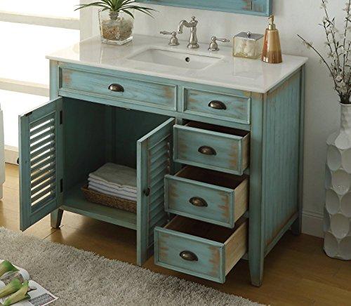 42 Benton Collection Distress Blue Abbeville Bathroom Sink Vanity CF 78888BU 0 1