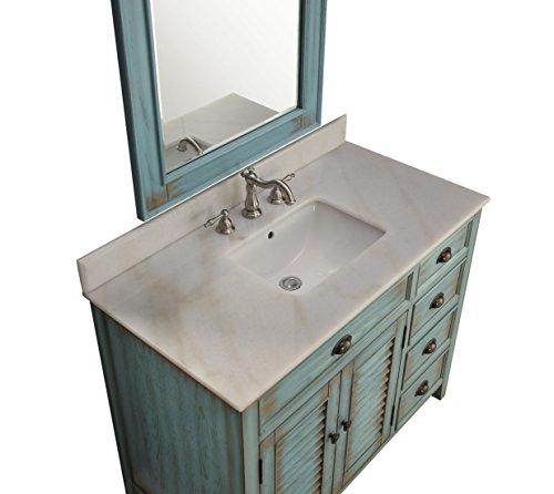 42 Benton Collection Distress Blue Abbeville Bathroom Sink Vanity CF 78888BU 0 3