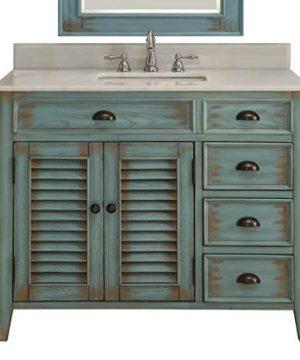 42 Benton Collection Distress Blue Abbeville Bathroom Sink Vanity CF 78888BU 0 300x360
