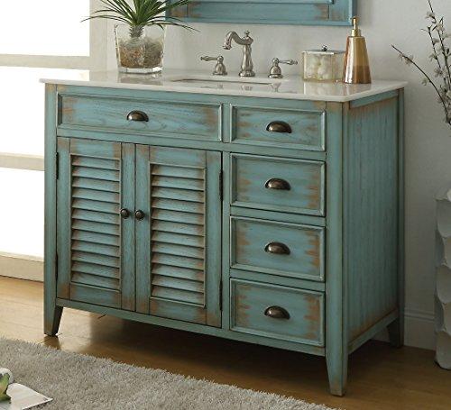 42 Benton Collection Distress Blue Abbeville Bathroom Sink Vanity CF 78888BU 0 4