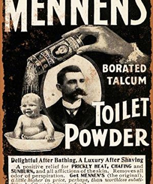 7-x-10-Metal-Sign-1901-Mennens-Toilet-Powder-Vintage-Look-0