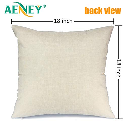 Aeney Christmas Pillow Cover 18x18 For Couch Have Yourself With A Marry Little Christmas Throw Pillow Farmhouse Decorations Home Decor Xmas Decorative