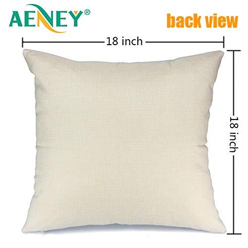 AENEY Christmas Pillow Cover 18x18 For Couch Farm Fresh And Christmas Tree Throw Pillow Farmhouse Decorations Home Decor Xmas Decorative Pillowcase Faux Linen Cushion Case Sofa Red 0 0