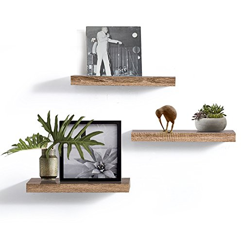 AHDECOR Floating Wall Mounted Shelves Set Of 3 Display Rustic Wood Ledge Shelves Wide Panel For Bedroom Office Kitchen Living Room 59 Deep 0 0