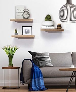 AHDECOR Floating Wall Mounted Shelves Set Of 3 Display Rustic Wood Ledge Shelves Wide Panel For Bedroom Office Kitchen Living Room 59 Deep 0 2 300x360