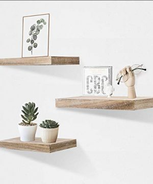 AHDECOR Floating Wall Mounted Shelves Set Of 3 Display Rustic Wood Ledge Shelves Wide Panel For Bedroom Office Kitchen Living Room 59 Deep 0 300x360