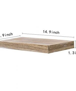 AHDECOR Floating Wall Mounted Shelves Set Of 3 Display Rustic Wood Ledge Shelves Wide Panel For Bedroom Office Kitchen Living Room 59 Deep 0 5 300x360