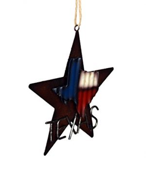 AR Country Store Western Rustic Lone Star 3 D Texas Map Christmas Ornament MetalTin Or Tree Or Wall Hanging 0 0 300x360