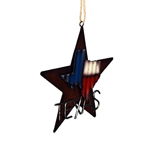 AR Country Store Western Rustic Lone Star 3 D Texas Map Christmas Ornament MetalTin Or Tree Or Wall Hanging 0 0